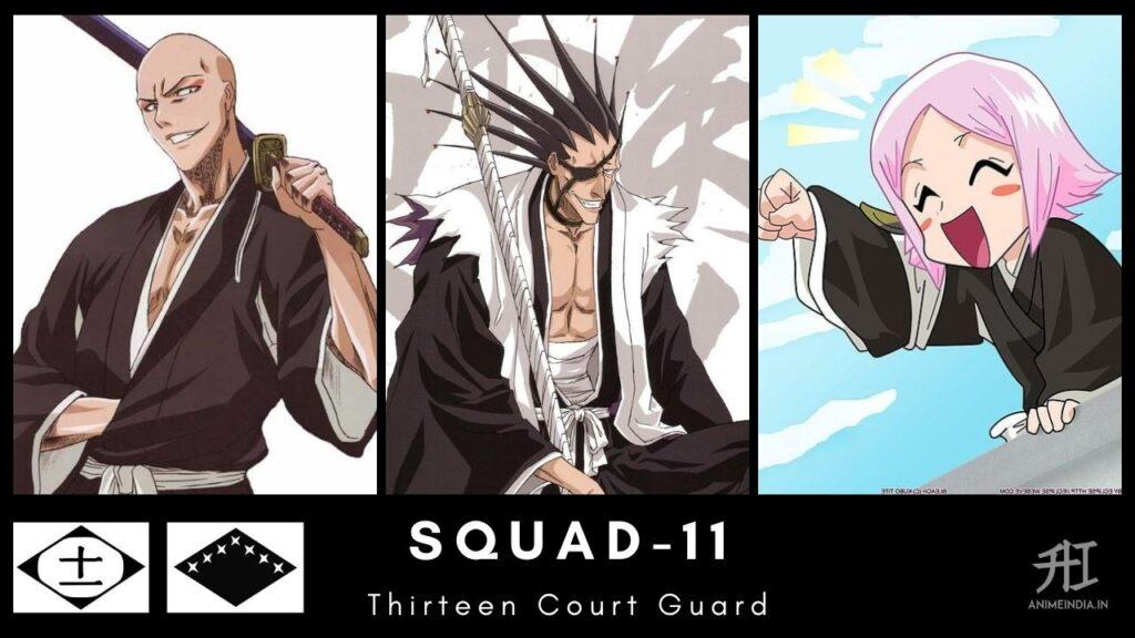 Squad-11 Thirteen Court Guard - Bleach