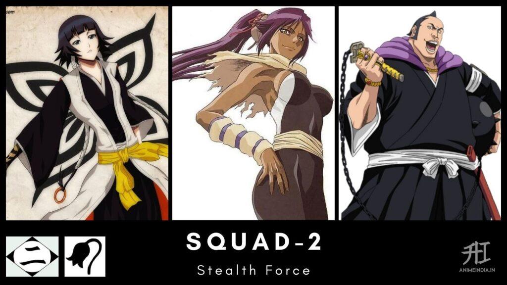 Squad-2 Thirteen Court Guard - Bleach