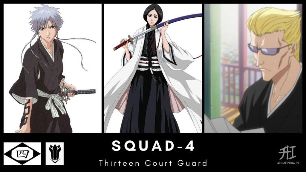 Squad-4 Thirteen Court Guard - Bleach